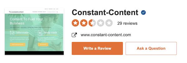 constant content reviews