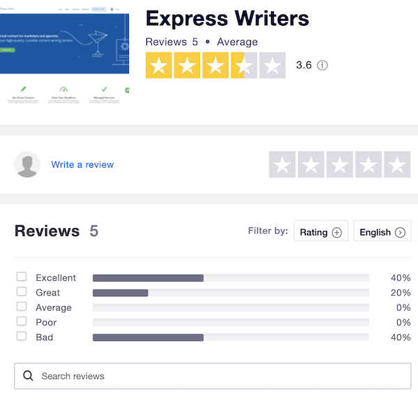express writers reviews