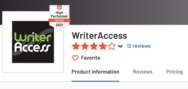writeraccess reviews