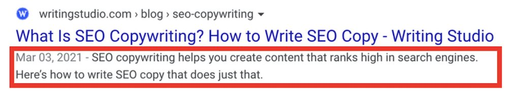 meta description for the keyword seo copywriitng