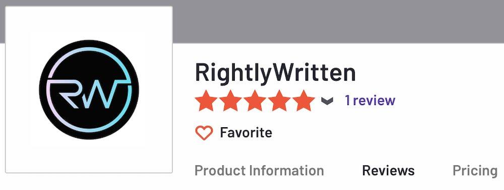 rightlywritten reviews